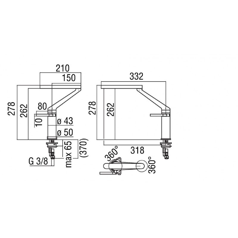 Nobili Zoom Single Lever Sink Mixer Tap Chrome Fab Appliances