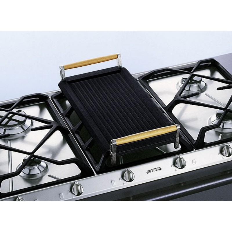 smeg bb3679 cast iron griddle for gas hobs fab appliances. Black Bedroom Furniture Sets. Home Design Ideas