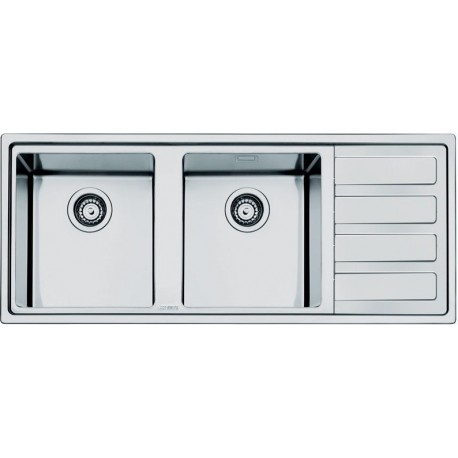 SMEG LD116D-2 MIRA KITCHEN SINK 2 BOWLS BRUSHED STAINLESS STEEL