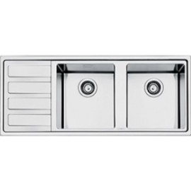 SMEG LD116S-2 MIRA KITCHEN SINK 2 BOWLS BRUSHED STAINLESS STEEL