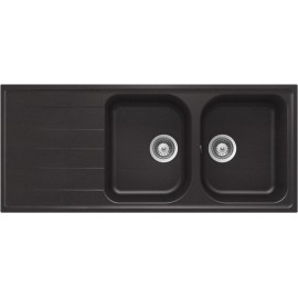 SCHOCK KITCHEN SINK LITHOS D200 A - 2 BOWLS CRISTALITE MATT BLACK