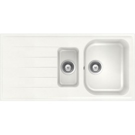 SCHOCK KITCHEN SINK LITHOS D150 A - 1.5 BOWL CRISTALITE WHITE ALPINA