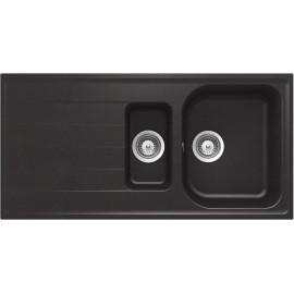 SCHOCK KITCHEN SINK LITHOS D150 A - 1.5 BOWL CRISTALITE MATT BLACK