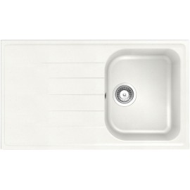 SCHOCK KITCHEN SINK LITHOS D100 A - 1 BOWL CRISTALITE WHITE ALPINA