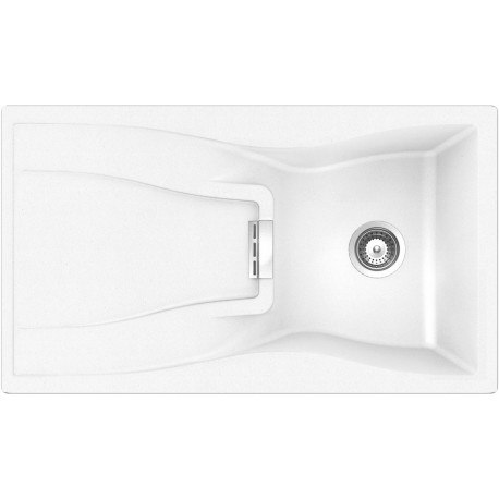 SCHOCK KITCHEN SINK WATERFALL D100 A - 1 BOWL CRISTADUR POLARIS EXTRA WHITE