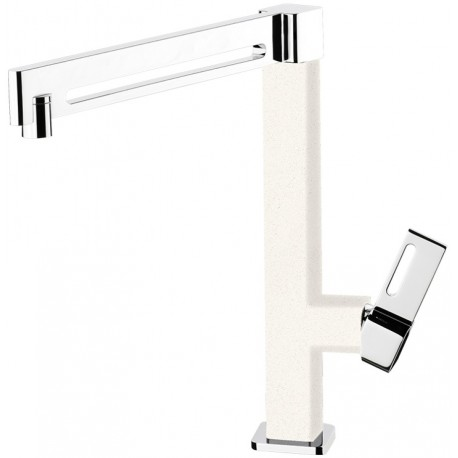 SCHOCK AQUAMILL SINGLE LEVER SINK MIXER TAP CHROME AND POLARIS EXTRA WHITE