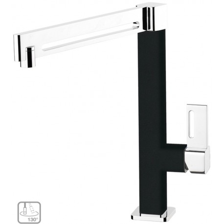 SCHOCK AQUAMILL SINGLE LEVER SINK MIXER TAP CHROME AND PURE BLACK