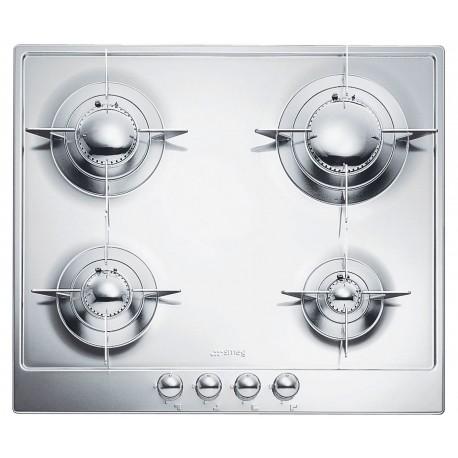 table de cuisson smeg p64es inox brillant 60 cm fab appliances. Black Bedroom Furniture Sets. Home Design Ideas