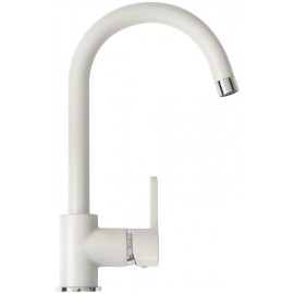 SCHOCK AQUAALTO SINGLE LEVER SINK MIXER TAP WHITE ALPINA