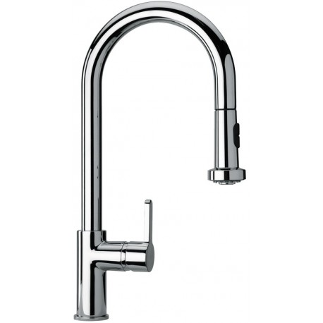 SCHOCK AQUAALTO SINGLE LEVER SINK MIXER TAP WITH PULL OUT SPRAY CHROME