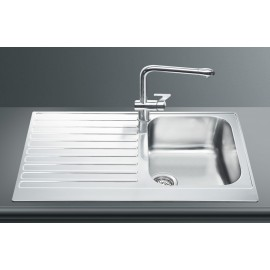 SMEG LPD861S KITCHEN SINK 1 BOWL PIANO DESIGN STAINLESS STEEL