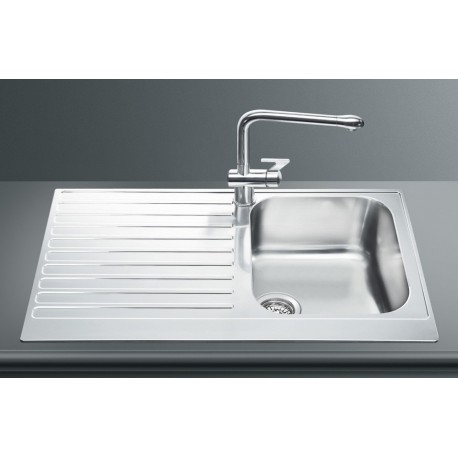 SMEG LPD861D KITCHEN SINK 1 BOWL PIANO DESIGN STAINLESS STEEL