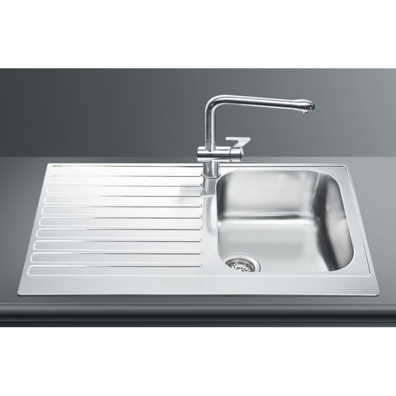 Smeg Lpd861s Kitchen Sink 1 Bowl Piano Design Stainless