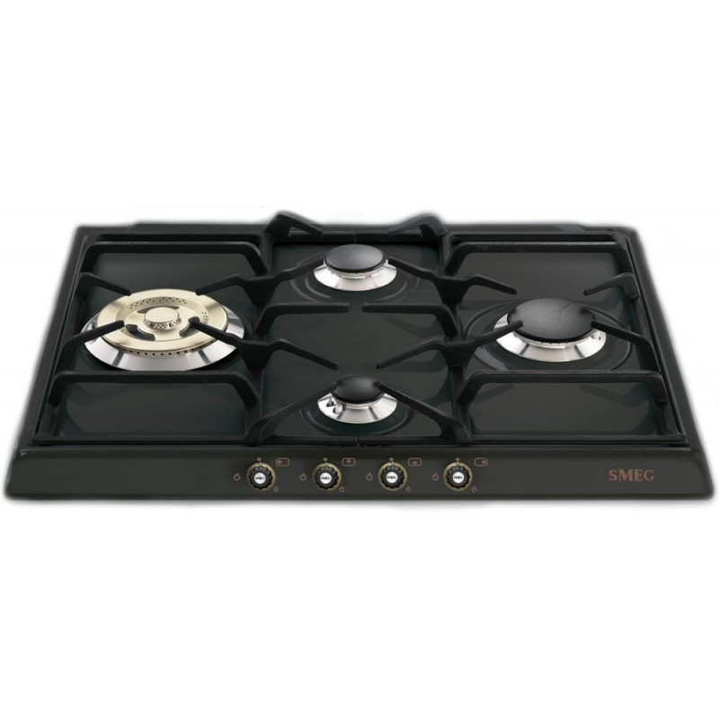 smeg gas hob sr764ao anthracite cortina line 60 cm fab. Black Bedroom Furniture Sets. Home Design Ideas