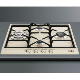 smeg gas hob pvb750 white glass base 74 cm fab appliances. Black Bedroom Furniture Sets. Home Design Ideas