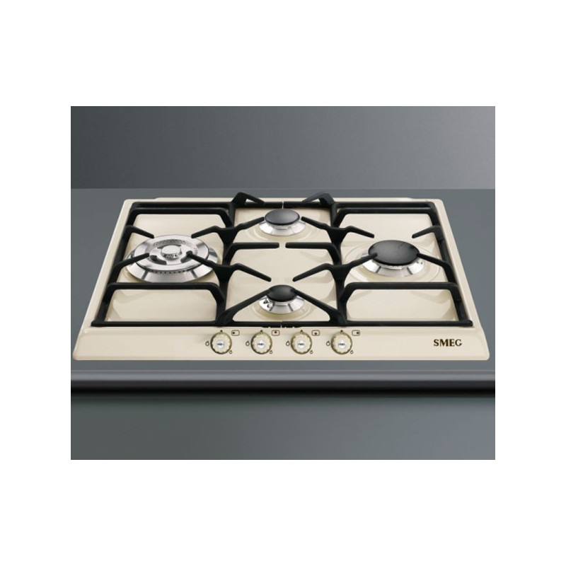 SMEG GAS HOB SR764PO CREAM CORTINA LINE 60 CM |FAB Appliances