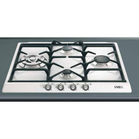 smeg gas hob sr764bs white cortina line 60 cm fab appliances. Black Bedroom Furniture Sets. Home Design Ideas