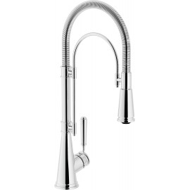 NOBILI SINGLE LEVER SINK MIXER TAP SERIES 'CHARLIE' PULL OUT SPRAY CHROME PLATED