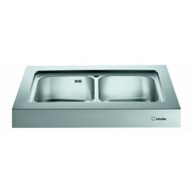 SCHOLTES EP902 KITCHEN SINK UNIT DOUBLE BOWL STAINLESS STEEL 900x650 MM