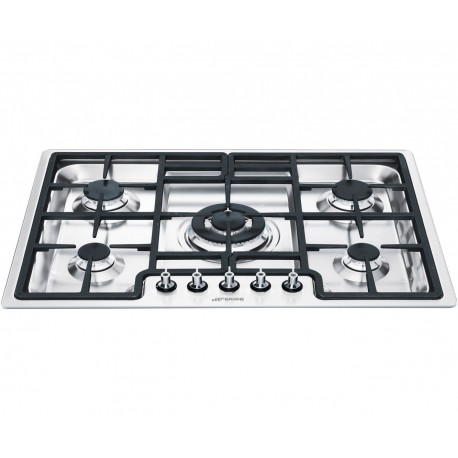 SMEG GAS HOB PGF75-4 STAINLESS STEEL BASE 70 CM