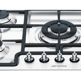 SMEG GAS HOB PGF75-4 STAINLESS STEEL BASE 72 CM