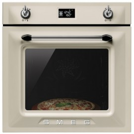 SMEG PYROLITIC MULTIFUNCTION PIZZA OVEN SFP6925PPZE VICTORIA AESTHETIC CREAM