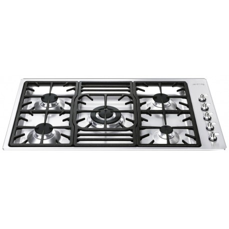 SMEG GAS HOB PGF95-4 STAINLESS STEEL BASE 90 CM
