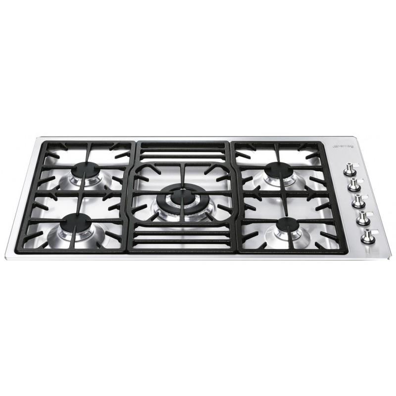 table de cuisson smeg pgf95-4 acier inox 90 cm  fab appliances