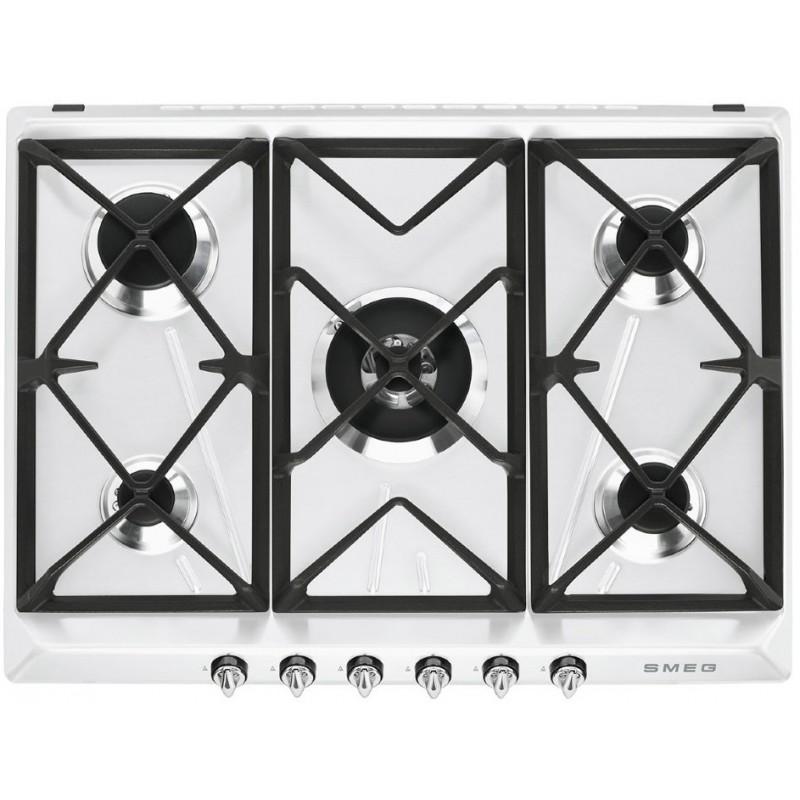 SMEG GAS HOB SR975BGH WHITE VICTORIA LINE 70 CM  FAB Appliances