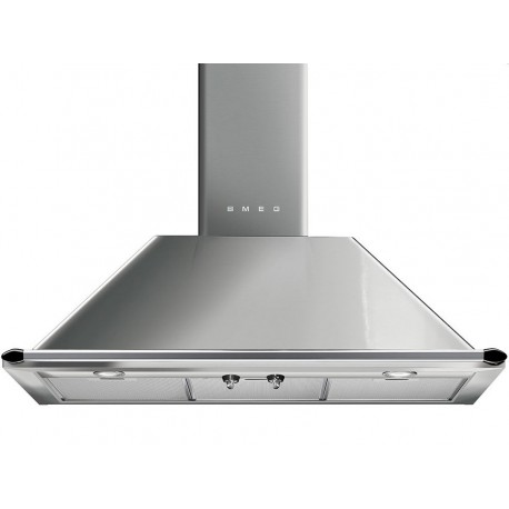 SMEG WALL MOUNTED CHIMNEY HOOD KTR90XE STAINLESS STEEL AESTHETIC VICTORIA 90 CM