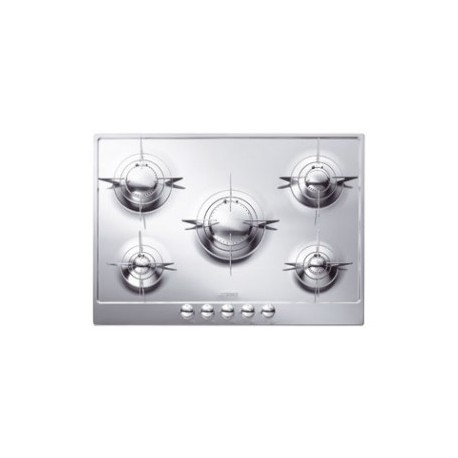 SMEG GAS HOB P705ES POLISHED STAINLESS STEEL 72 CM PIANO DESIGN