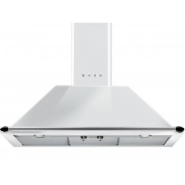 SMEG WALL MOUNTED CHIMNEY HOOD KT90BE WHITE AESTHETIC VICTORIA 90 CM