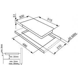 TABLE DE CUISSON INDUCTION SMEG SI5322B - 30 CM