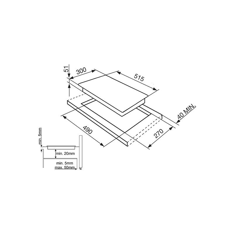 Smeg induction hob si5322b 30 cm fab appliances - Piano smeg induction ...