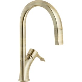 NOBILI SOFI SINGLE LEVER SINK MIXER TAP PULL OUT SPRAY BRONZE