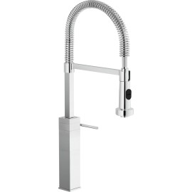 NOBILI CUBE SINGLE LEVER SINK MIXER TAP CHROME PLATED CB00705/3CR