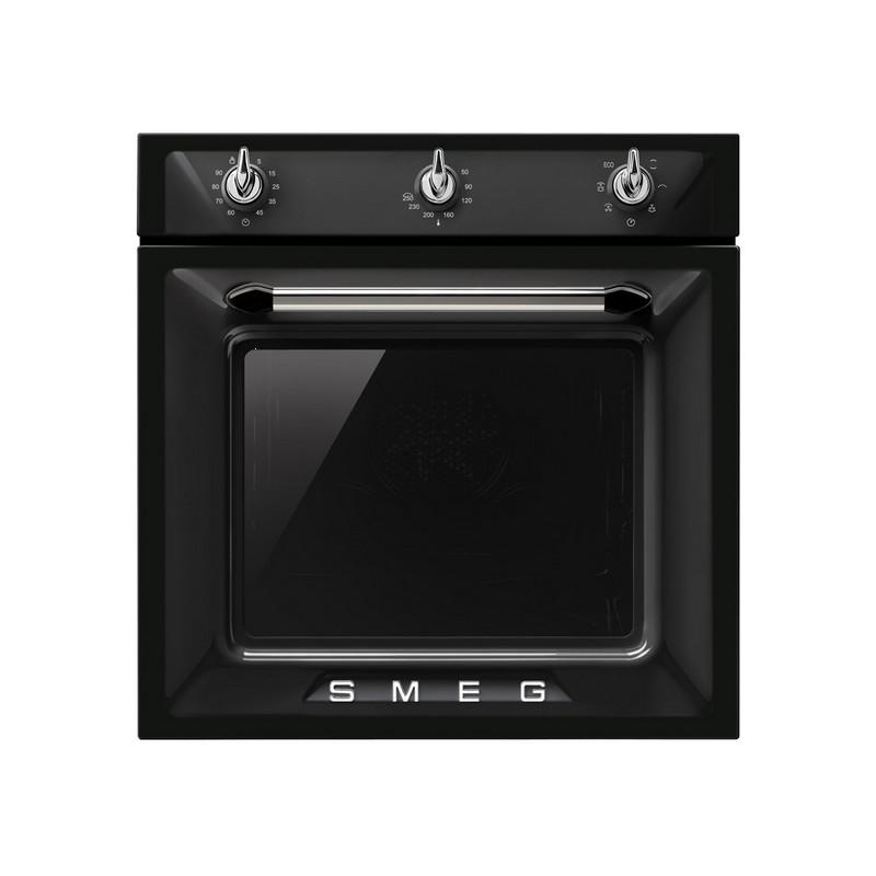 Smeg einbaubackofen sf6903n schwarz designlinie victoria for Smeg schwarz