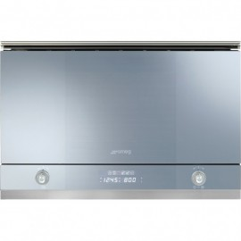 SMEG MICROWAVE OVEN WITH ELECTRIC GRILL MP122 SILVER GLASS 60 CM