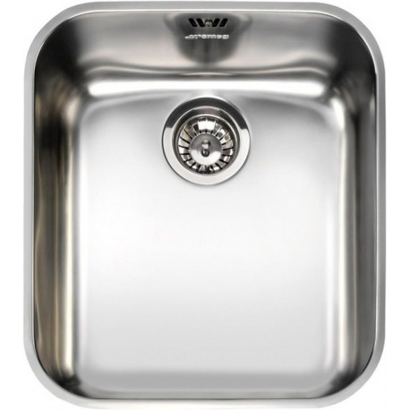 SMEG UM40 UNDERMOUNTED KITCHEN SINK SINGLE BOWL STAINLESS STEEL 40 CM