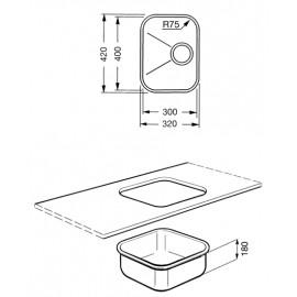 Viers fab appliances for Evier encastrable sous plan
