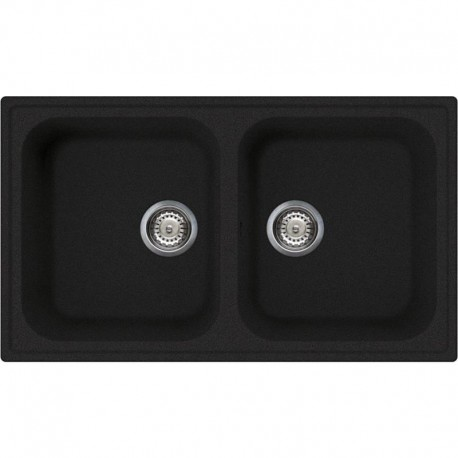 SMEG KITCHEN SINK LZ862A RIGAE 2 BOWLS ANTHRACITE