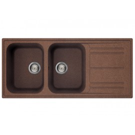 SMEG KITCHEN SINK LZ116RA RIGAE 2 BOWLS COPPER