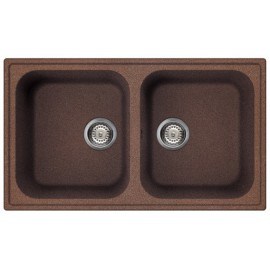 SMEG KITCHEN SINK LZ862RA RIGAE 2 BOWLS COPPER