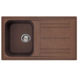 SMEG KITCHEN SINK RIGAE LZ861RA - 1 BOWL COPPER