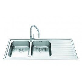SMEG LL116D-2 KITCHEN SINK 2 BOWLS BRUSHED STAINLESS STEEL
