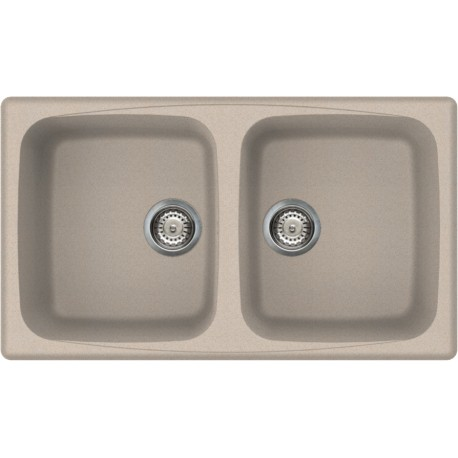 ELLECI KITCHEN SINK MASTER 450 2 BOWLS OATMEAL MADE IN ITALY
