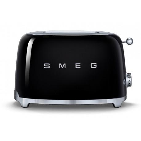 SMEG TOASTER 2 SLICES 50'S STYLE BLACK TSF01BLEU