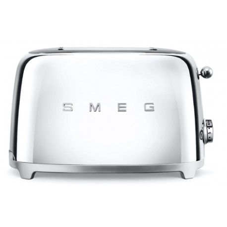 SMEG TOASTER 2 SLICES 50'S STYLE POLISHED CHROME TSF01SSEU