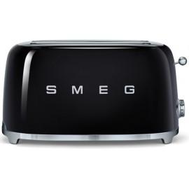 SMEG TOASTER 4 SLICES 50'S STYLE BLACK TSF02BLEU