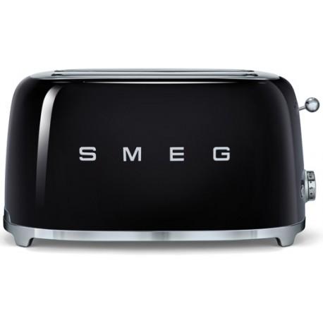 grille pain 4 tranches smeg noir tsf02bleu esth tique ann es 50 l. Black Bedroom Furniture Sets. Home Design Ideas